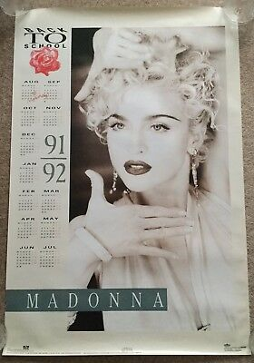 Madonna Very Rare Back To School Style Calendar Poster 1990/1991 Boy Toy Inc