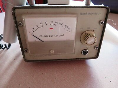 Geiger counter by Mini Instruments used in University Lab