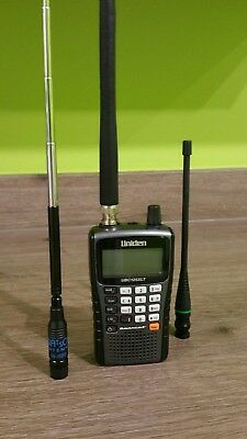 Uniden Bearcat UBC125XLT Scanner with Watson W889 and Panorama PMR Antennas VGC