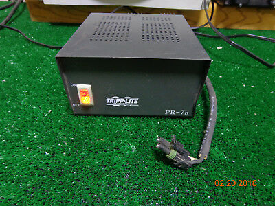 Tripp-Lite PR-7b DC Power Supply 13.8VDC 7 Amp EF Johnson RS5300 VHF P.Cord B2