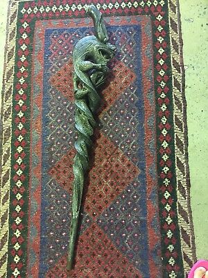 Vintage Wooden Carved Walking Stick