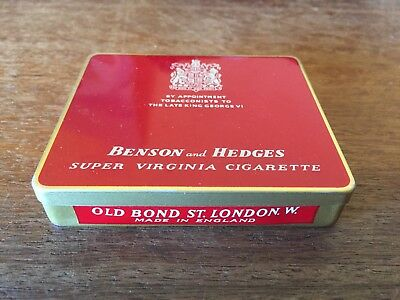 Benson And Hedges Cigarette Tin Empty