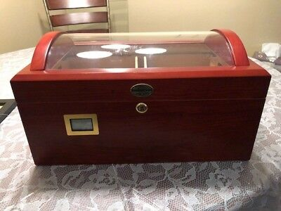 Thomason Cigar Desktop Humidor Glasstop
