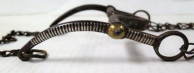 Antique Horse Bit w/ Striped Silver Sides   -  Mexico