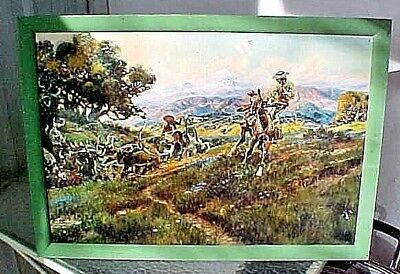 CHARLES M. RUSSELL VAQUEROS OF OLD CALIFORNIA Colson COLSOCOLOR OLD REPRODUCTION