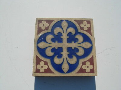 Antique Minton & Co patent Stoke upon Trent Tile # 2