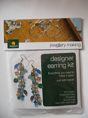 Designer Jewellery Making Kit - Earring Kit - Gold (1 pkt)
