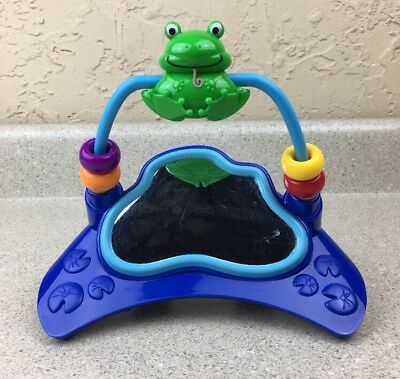 Baby Einstein Musical Motion Jumper Replacement Toy Frog W/ Mirror Blue