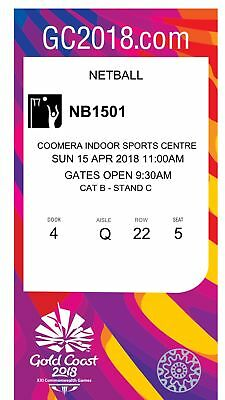 Commonwealth Games Tickets Netball GRAND FINAL x3
