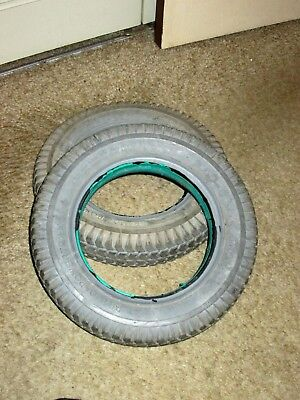 Primo Powertrax 3.00-8 nylon power wheelchair solid tires gd cond
