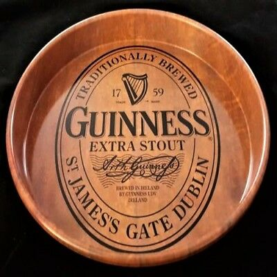 """Guinness Guiness Stout Round 13"""" Irish Beer Metal Tray Signs Collectible Display"""