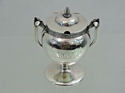 SURER RARE ANTIQUE AMERICAN COIN SILVER MUSTARD POT middle of 19th century