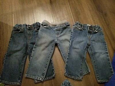 infant boys childrens place jeans size 18-24 months lot of 3