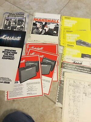Vintage Marshall amps catalogs price sheets flyers etc 1971-1980 BIG LOT