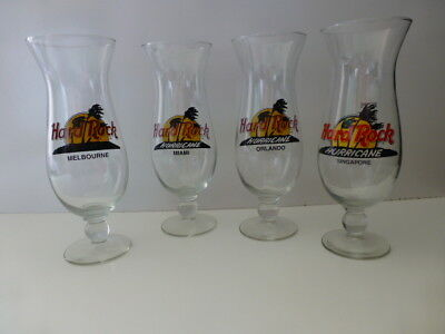 Hard Rock Cafe Hurricane Glasses New 4 available various locations