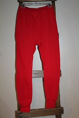 e3d5f49f7e Vintage~WINTERSKINS~Sears~MENS STORE~Red LONG UNDERWEAR~Base Layer PANTS