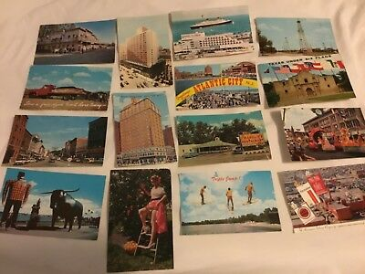 Huge Lot Of Over 900 Vintage Postcards, All Usa, All Standard Size, Awesome!