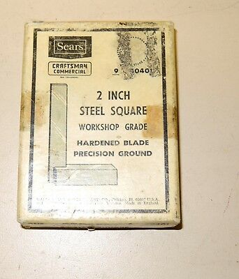 Craftsman  TOOLMAKERS Workshop PRECISION SQUARE 9-40401 EXCELLENT in box