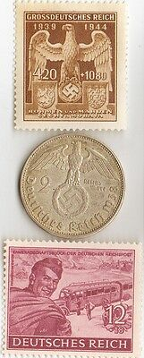 -  *german  coins  and   stamps  from  WW2 +..