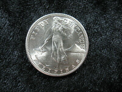1 old world foreign Silver coin PHILIPPINES 50 centavos 1944 KM183 sm FREE S&H