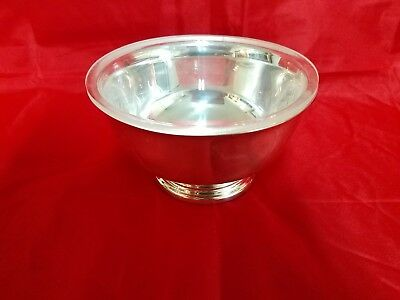 "Gorham EP Silverplate Reproduction Paul Revere YC778 Small Footed Bowl 5"" D"