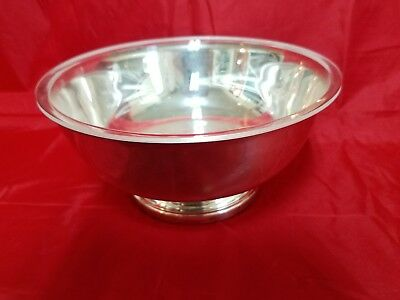 Vintage Gorham EP YC781 Silverplate Paul Revere Footed Serving Bowl 9""