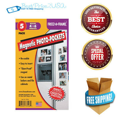 4 X 6 Magnetic Photo Frames For Refrigerator Clear 5 Pack Picture
