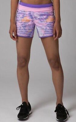 Girl's Ivivva Relay Racer Short Jellyfish Dreams Purple Pink print size 14