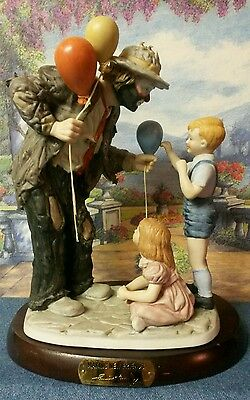 Emmett Kelly Jr. Making New Friends Figurine on Base Signed and Dated