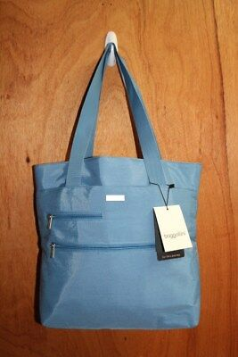 Baggallini Light Blue Tote Bag Pink Interior New With Tags