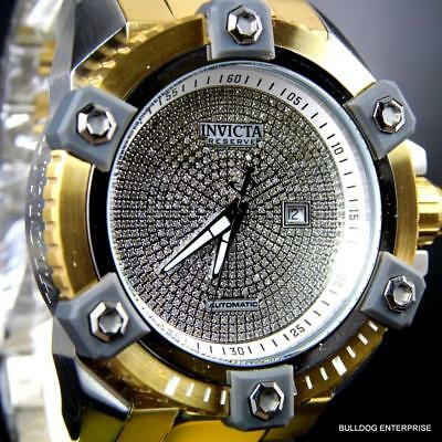 Invicta Reserve Grand Arsenal 2.35CTW Diamonds 2 Tone 63mm Automatic Watch New