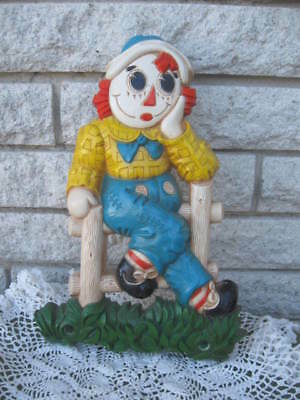 Vintage Hard Plastic Raggedy Andy Wall Plaque