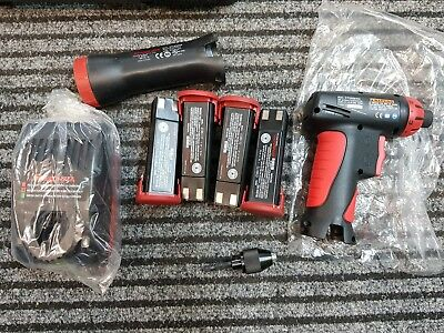 Snap On Cordless Screwdriver 7.2V CTSA561CL + 4 batteries, case, torch, charger