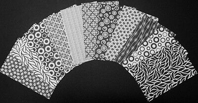"Mono BLACK & WHITE Scrapbooking/Cardmaking Papers x 11 *15cm x 10cm - *(6"" x 4"")"