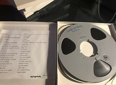 """One 1/4"""" Reel to Reel Tape 10-1/2"""" 10.5"""" R2R 7.5ips w/ syndicated music"""