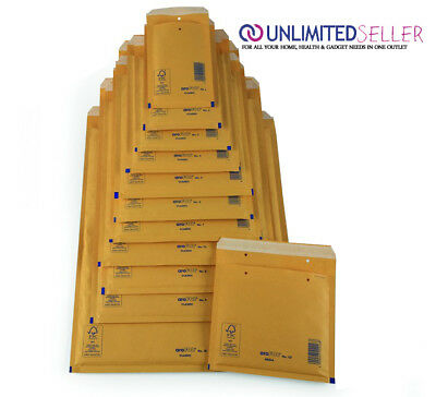 Arofol Genuine Gold Bubble Padded Envelopes Mailers Bags Fragile Mail Lite Sizes