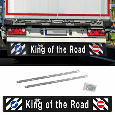 Universal Lorry Mud Flap Long 240x35cm Trailer Protection Mud Flaps Rear 3D