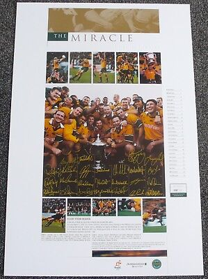 Bledisloe Cup  The Miracle  Wallabies  Squad Signed  John Eales  Mark Connors