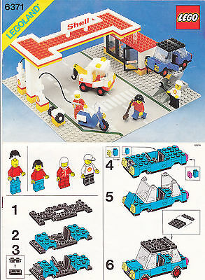 Lego Model 6371 Shell Service Station Instructions Only