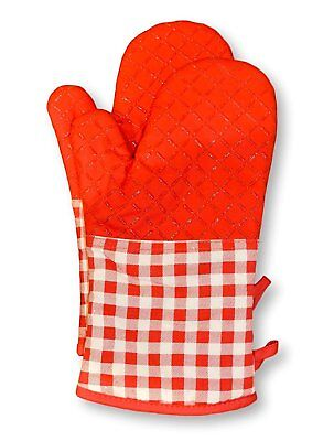 Cotton Non-Slip Silicon Strips Oven Gloves-Heat Resistant Cooking Mitts 1pair