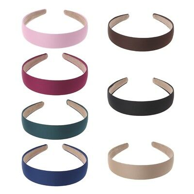 Women Hair Band Wide Pure Vintage Retro Headband Headwear Lady Girl Accessories