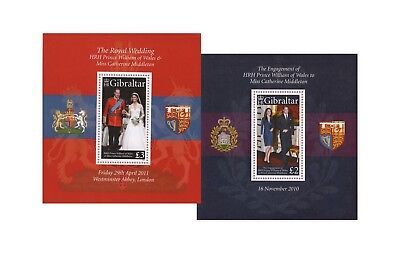 William & Kate Gibraltar Blocks weit unter Postpreis! Postfrisch/mint mnh