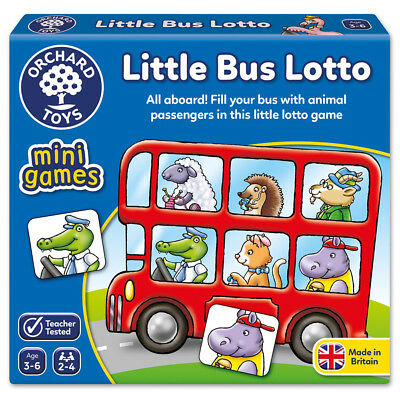 NEW Orchard Toys Little Bus Lotto Mini Game