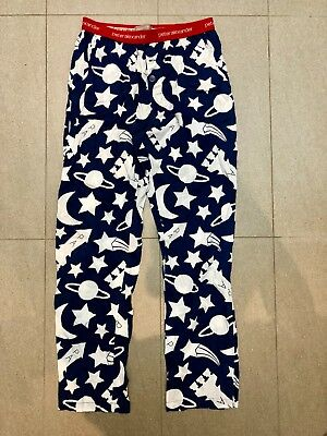 Peter Alexander Blue & White Space Theme Mens Pyjama Pants Size S