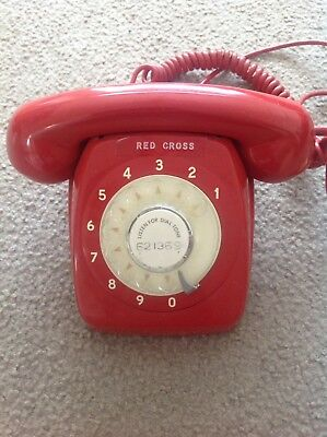 60's Vintage Red PMG 801 Rotary Dial Telephone