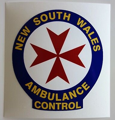 Obsolete Nsw Ambulance Control Sticker
