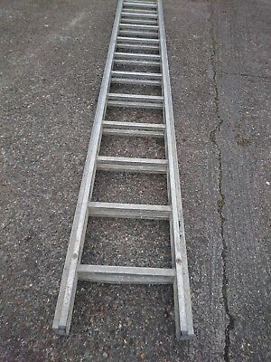 double ladder - aluminium - 2 parts of a triple- 12 rung - heavy duty