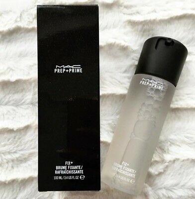MAC Prep & Prime Fix Plus (+) Setting Spray 100ml In Retail Bottle And Packaging