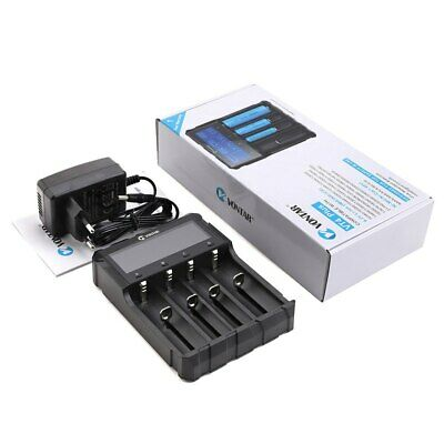 VONTAR High Quality Smart LCD USB Battery Charger for lithium battery 3.7V