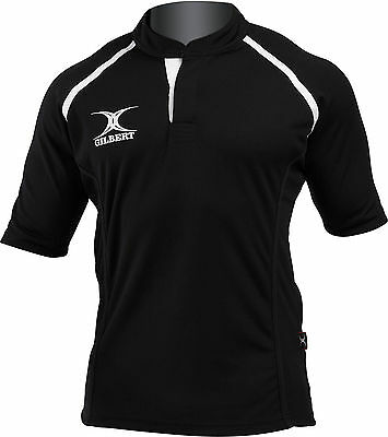 Clearance Line New 2014 Gilbert Rugby Xact Shirt Black - Various Sizes